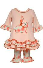 Bonnie Jean Baby Girls' Pink Bunny Ruffled Tunic and Leggings Set Easter Spring