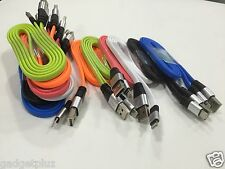 3x 3ft 1m long Flat Noddle USB cable data sync Charging cord For Samsung Iphone