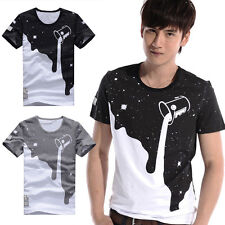 Fashion Casual T-shirts Tee Mens Short Sleeve Slim Fit Crew Neck Shirt Tops AY