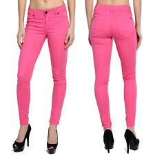TheMogan Colored Ankle Stretch Skinny Jeans Pencil Pants in Pink