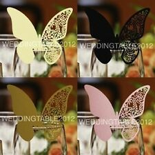 Butterfly Glass Place Cards Laser Cut on Luxury Pearlescent Card, Wedding Party