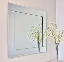 Square Bevel Overlay Trim Decorative Frameless Wall Mirror The Royal Collection