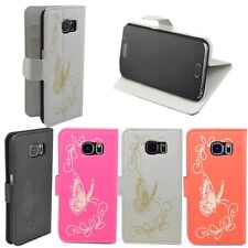 Mobile Phone Wallet Flip Leather Case Cover For Samsung LG Sony Motorola Phones