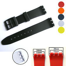 Replacement Strap for Swatch Watch, Resin Band with New Pins and Buckle