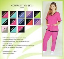 Medical Nursing Scrubs NATURAL UNIFORMS Contrast Sets XS-S-M-L-XL-2XL-3XL
