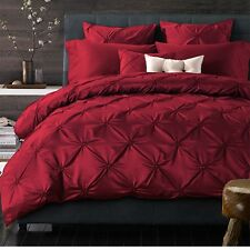 Red Cotton Silk Quilt/Duvet/Doona Cover Set Double Queen King Size Bed Linen New
