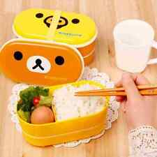 Cartoon Rilakkuma Lunchbox Bento Lunch Box Food Container With Chopsticks