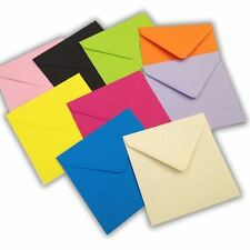 "6"" Square Coloured Envelopes for Cards 155 x 155mm Wedding Craft"
