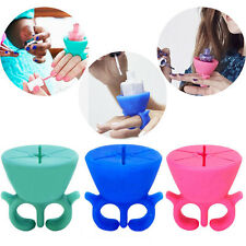 Top Selling Silicone Nail Polish Clip Holder Wearable Nail Polish Bottle Stent