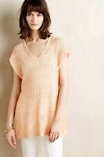 ANTHROPOLOGIE Moth Hooded Pointelle Pullover Sweater Size S M L NwT