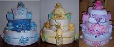 Baby Shower 3 Tier Duck Diaper Cake, Blue, Pink, or Neutral