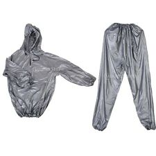 Heavy Duty SWEAT SAUNA SUIT Exercise Gym Yoga Fitness Weight Loss Slimmer M L XL