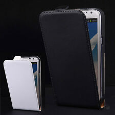 Genuine Leather Vertical Flip Stand Case Cover Skin For Samsung Galaxy Note II 2