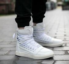 New Mens Lace Up Back Zip High Top casual Sneakers Casual Flats Shoes Korean