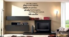 Life is like a camera - Vinyl Wall Lettering Quotes Sayings Words Art Decals