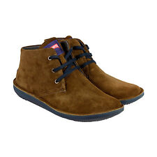 Camper Beetle Mens Brown Suede Lace Up Sneakers Shoes