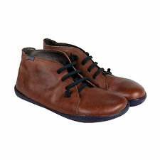 Camper Peu Mens Brown Leather Lace Up Sneakers Shoes