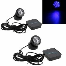 2 PCS Solar Powered LED Pond Spotlight Lamp Submersible Outdoor Pool Garden