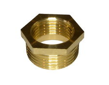 REDUCING BUSH HEXAGON MALE TO FEMALE ADAPTOR PIPE REDUCER BRASS -VARIOUS SIZES-