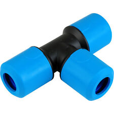 SPEEDFIT MDPE EQUAL TEE CONNECTOR 20 25 32 mm PUSHFIT PIPE FITTING