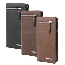 Luxury Men's PU Leather Long Wallet Pockets Purse ID Card Coin Clutch Holder NEW