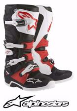 ALPINESTARS TECH 7 MOTOCROSS ATV DIRTBIKE MX BOOTS BLACK/WHITE/RED MENS SIZE