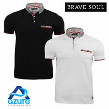 Mens Polo Shirt by Brave Soul 'Montague' Short Sleeved Sizes S-XL