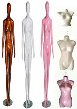 FEMALE MANNEQUINS TORSO DUMMY FOR CLOTHES SCARFS TOPS TROUSER DISPLAY