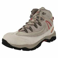 HI TEC 'Knysna' Grey/Light Pink Suede Leather WATERPROOF Walking/Hiking Boots