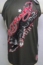 Ed Hardy Christian Audigier Mens Gray Tiger Mesh Tank Top shirt Sport Series