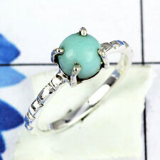 925 SOLID STERLING SILVER LARIMAR CABOCHON GEMSTONE NEW RING SIZE 3 -12.5 KK957F
