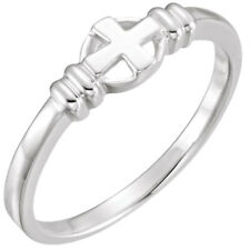 925 Sterling Silver Cross Circle Chastity Ring