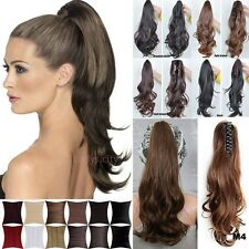 Jaw Ponytail Clip in Hair Extension Claw Pony tail clip on Extensions Hair f72