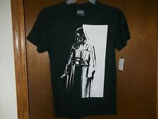 Star Wars Darth Vader Standing black white t-shirt NWT Small