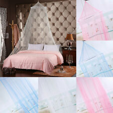 Elegant Lace Bed Mosquito Curtain Net Mesh Canopy Princess Round Dome Bedding