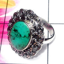 925 SOLID STERLING SILVER NATURAL TIBET TURQUOISE WOMEN RING SIZE 3 -12.5 KK912D