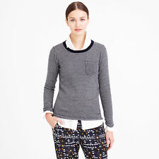 NWT J.CREW Collection Cashmere Long-Sleeve Tee in Thin Stripe size XXS/XS/S $228