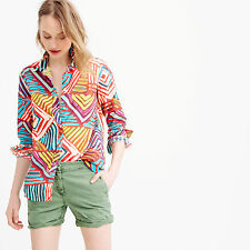NWT - J.CREW - Boy Shirt in Geo Brushstroke - size 0 (Festival Multi) $98