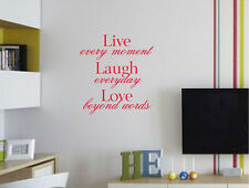 Live laugh love wall quote decal | wall quote sticker