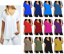 Womens Oversized Batwing Sleeve Tunic Dolman Top T shirt Blouse US Size 8-28
