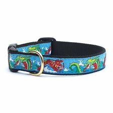 UP-COUNTRY DRAGON AND KOI DOG COLLAR MADE IN THE USA BIG DOGS XL-2XL