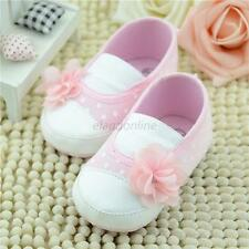 Hot Cute Baby Shoes Infant Girl Flower Soft Sole Slip-on Sneaker Shoes Prewalker