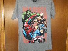 Marvel Avengers cast hulk iron man Capt Spider man t-shirt NWT SmaLL or Large