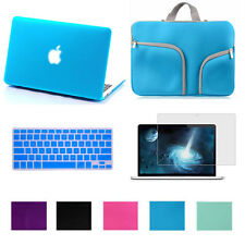 "Rubberized Case Cover For Macbook Air Pro Retina 11 13 15""+Keyboard Skin+Bag+LCD"
