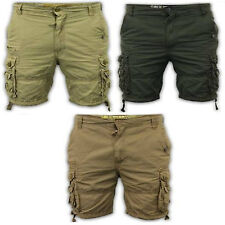 Mens Combat Shorts Soul Star Cargo Bottoms Cotton Drawcord