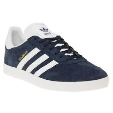 New Mens adidas Blue Gazelle Suede Trainers Retro Lace Up