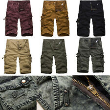 Mens Fashion Casual Shorts Tide Beach Short Camouflage overalls Work Cargo Pants