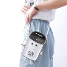 Women Robot Style PU Leather Coin Purse Cell Phone Mini Crossbody Shoulder Bag B