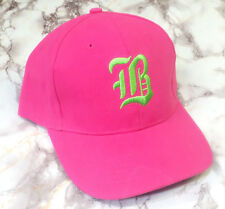 Custom Letter A-M Embroidery Pink Cotton Unisex Baseball Casual Cap Hat Gifts