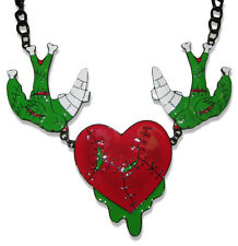 Too Fast Zombie Swallow Necklace Psychobilly Rockabilly Pinup Tattoo Goth Punk